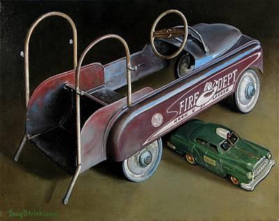Toy Crossroads Art Print by Doug Strickland