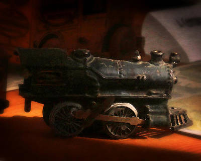 Photograph - Toy Locomotive by Timothy Bulone