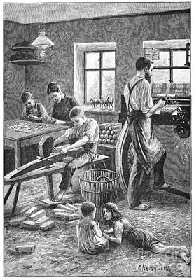 Toy Manufacturing, 19th Century Art Print
