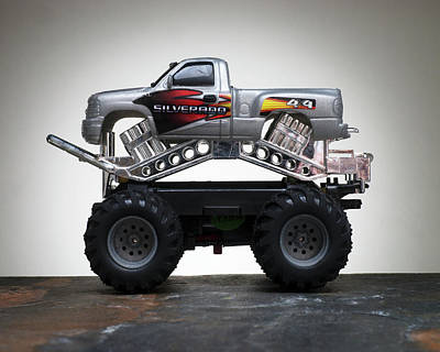 Monster Truck Photograph - Toy Motor Vehicles - Monster Truck by Donald Erickson