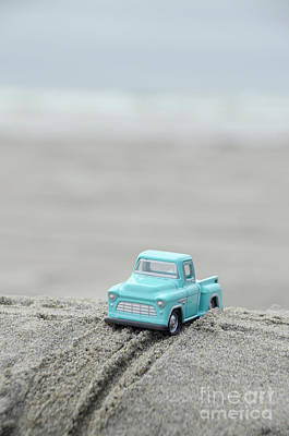 Photograph - Toy Pickup Truck At The Beach by Jill Battaglia