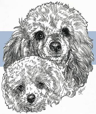Mixed Media - Toy Poodle And Pup by Barbara Keith