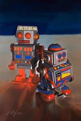 Toy Robots Original by Karl Melton