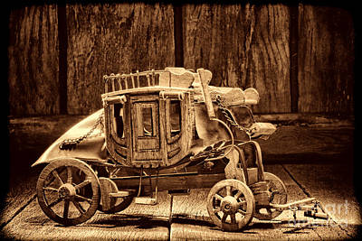 Photograph - Toy Stagecoach  by American West Legend By Olivier Le Queinec