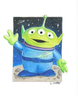 Animation Drawing - Toy Story Alien by Loren Hill