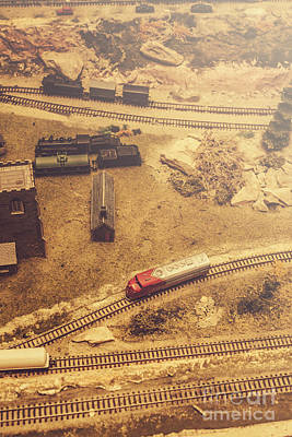 Vintage Locomotive Photograph - Toy Train Set by Jorgo Photography - Wall Art Gallery