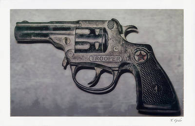 Photograph - Toy Trooper Cap Pistol by Tony Grider