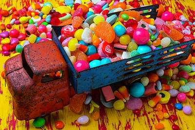 Licorice Photograph - Toy Truck Full Of Candy by Garry Gay