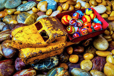 Photograph - Toy Truck With Marbles by Garry Gay