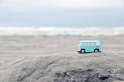 Photograph - Toy Van At The Beach Aqua by Jill Battaglia