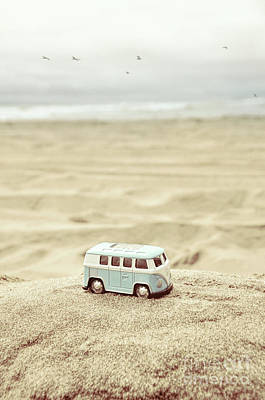 Photograph - Toy Van At The Beach by Jill Battaglia