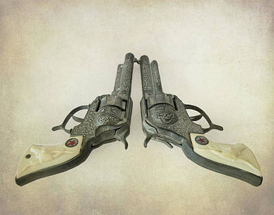 Photograph - Toy Western Cap Pistols by David and Carol Kelly