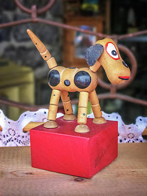 Toy Shop Photograph - Toy Wooden Dog by David Thompson