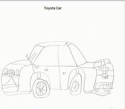 Toyota Drawing   Toyota Car By Khajit Venkatesh