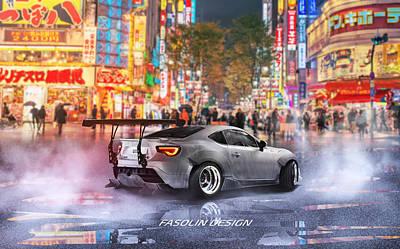 Diffuser Digital Art - Toyota Gt86 Time Attack by Alex Fasolin