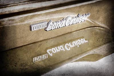 Photograph - Toyota Land Cruiser Emblem  -0584ac by Jill Reger