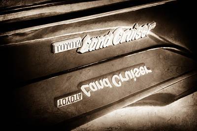 Photograph - Toyota Land Cruiser Emblem  -0584s by Jill Reger