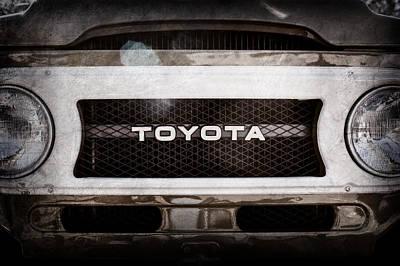 Photograph - Toyota Land Cruiser Grille Emblem  -0589ac by Jill Reger