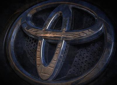 Toyota Rav 4 Emblem Art Print by Larry Helms
