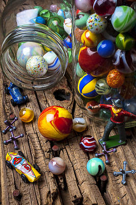 Marble Photograph - Toys And Marbles by Garry Gay