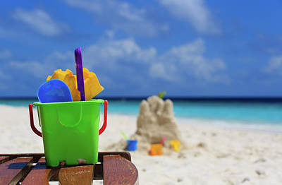 Tropical Photograph - Toys On Tropical Beach by NadyaEugene Photography