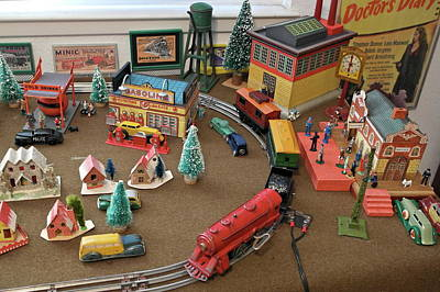 Photograph - Toytown - Train Set Overview by Michele Myers