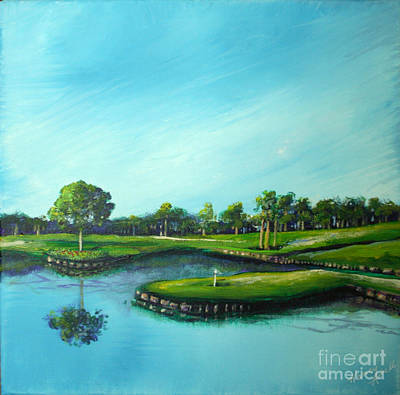 Tpc 17th Hole 2010 Art Print by Michele Hollister - for Nancy Asbell