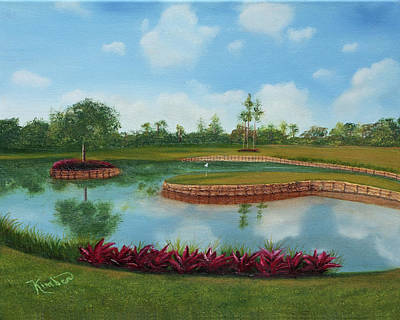 Painting - Tpc Sawgrass 17th Hole by Kimber Butler