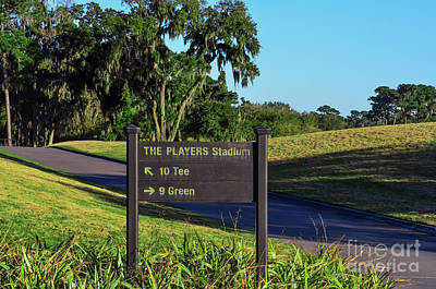 Photograph - Tpc Sawgrass Sign by Randy J Heath