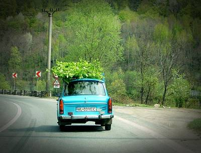 Photograph - Trabant In Camouflage by Dora Hathazi Mendes