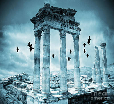 Ruins Mixed Media - Traces Of The Past by KaFra Art