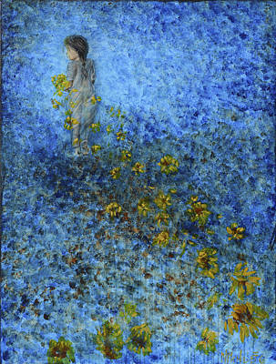 Art Print featuring the painting Traces Sunflowers Lost by Nik Helbig