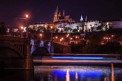 Photograph - Tracing Lines. Night Prague by Jenny Rainbow