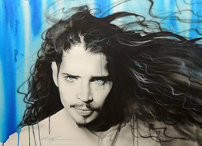 Soundgarden Painting - Chris Cornell - ' Track 12 ' by Christian Chapman Art