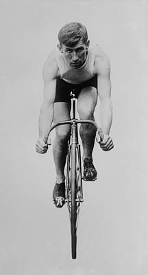 Velodrome Photograph - Track Cyclist by Vintage Velo