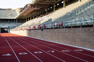 Franklin Field Photograph - Track - Franklin Field - Upenn by Bill Cannon