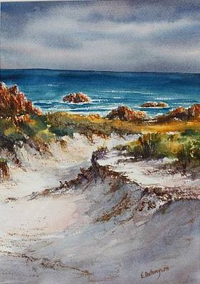 Painting - Track Through The Dunes Bluff Point  by Evelyn Antonysen