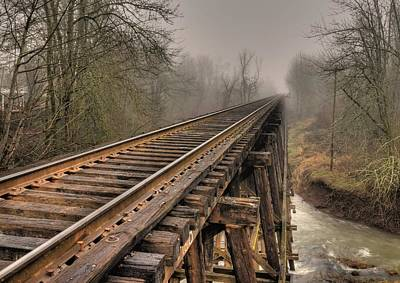 Train Tracks Photograph - Track To Some Where by Peter Schumacher