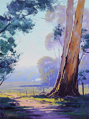 Nature Scene Painting - Track To The Farm by Graham Gercken