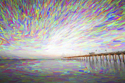 Shore Digital Art - Tracking The Sky II by Jon Glaser