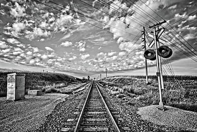 Photograph - Tracks And Lines Bw by Bonfire Photography