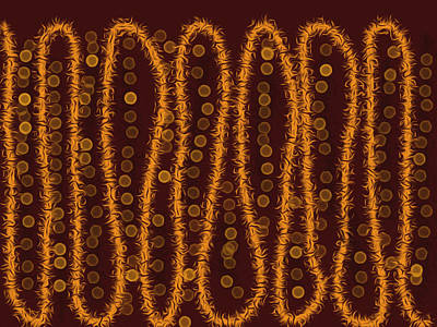 Indigenous Australians Painting - Tracks by Chris Lovell