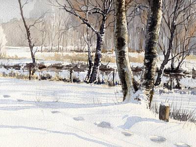 Painting - Tracks by Erik Lundgren