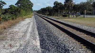 Photograph - Tracks Hobe Sound, Fl by John Wartman