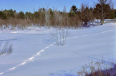 Tapestry - Textile - Tracks In The Snow by Dennis Bucklin