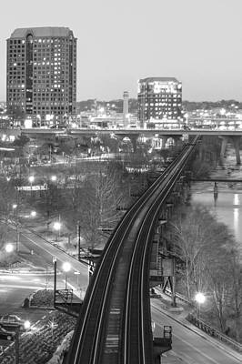Photograph - Tracks Into The City by Aaron Dishner