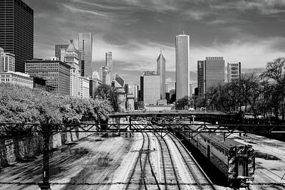 Photograph - Tracks Into The City Horizontal by John McArthur