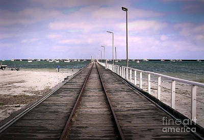 Photograph - Tracks Into The Sea by Eena Bo