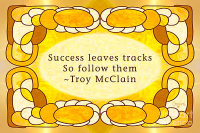 Confluence Digital Art - Tracks Of Success Abstract Motivational Art By Omashte by Troy McClain