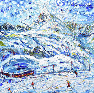 Painting - Tracks On The Matterhorn II by Pete Caswell